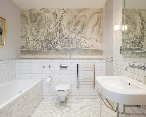 Witte muurtegels badkamer wandtegels voor badkamer of keuken wit bij cm te koop tegels - Vintage badkamer ...