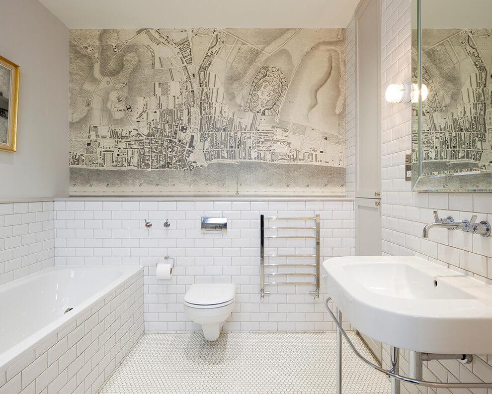 Witte vintage badkamer door ontwerper richard dewhurst badkamers voorbeelden - Vintage badkamer ...