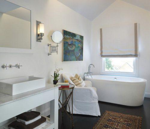 Zwarte vloer en witte wanden badkamers voorbeelden - Zwarte badkamer witte ...