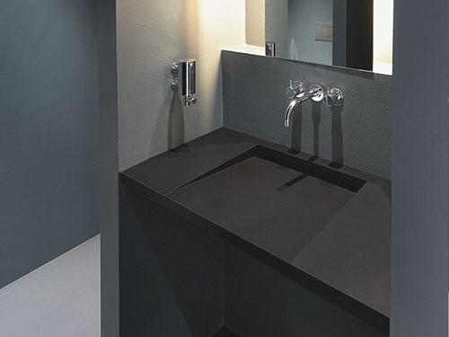 Zwarte wastafels badkamers voorbeelden